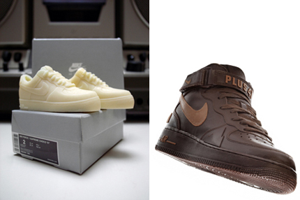 +41 Mini Choco Sneakers: Air Force One White Chocolate,Dunks:Trainers:Blazers Dark Chocolate+G9